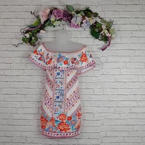 NWT Impeccable Pig Bohemian Floral Ruffle Dress
